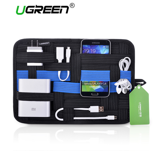 buy online 8dd07 6a262 US $18.42 |Ugreen Newest Digital Device Organizer Travel Storage Bag For  iPhone Tablet Mobile Phone USB Cable Earphone Charger Power Bank-in Phone  ...