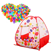 Large Portable Ocean Balls Play Tent Kids Indoor Outdoor Playhouse For Kids Playing Tent Foldable Ocean Ball Play Tent House