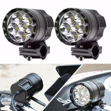 FADUIES, 1 пара мотоциклетных фар, 12 В, 60 Вт, U2 Светодиодный прожектор для мотоцикла, фары для мотоцикла, точечные фары для вождения, вспомогательная лампа