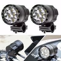 FADUIES 1 para reflektory motocykla 12V 60W U2 LED reflektor motocyklowy reflektory Moto Spot reflektory przednie lampa pomocnicza jazdy na