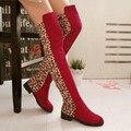 Sapatos preto joelho Botas de leopardo Botas de neve Botas de inverno sapatos zapatos mujer Botas sapatos Botas