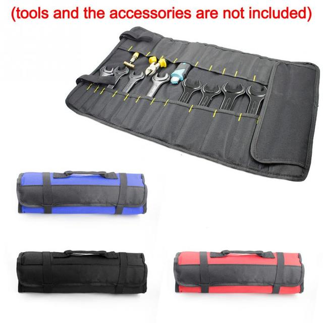 Tool Organizers Oxford Cloth Waterproof Tool Bag Electrician Plumber Portable Screws Drill Bit Storage Pouch Hand Repair Tool Organizer Case Kit