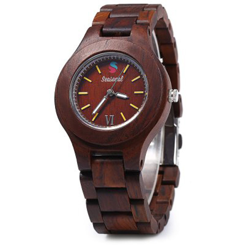 2016 New Retro Seasonal Male Quartz Watch Maple Band Wristwatch Wooden Watches Women saat relogio feminino