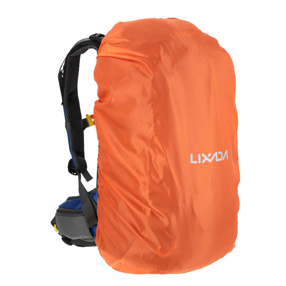 Lixada 50L Besar Tas Travel Waterproof Nylon Rucksack Luar Olahraga Ransel dengan Penutup Hujan Camping Climbing Trekking Ransel