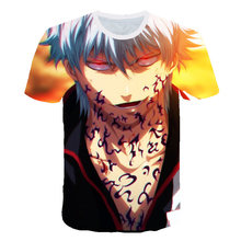 New Gintama Silver Soul Funny Face T-shirt Cosplay Anime Men Women Cute T Shirt Kamui Warrior O-neck