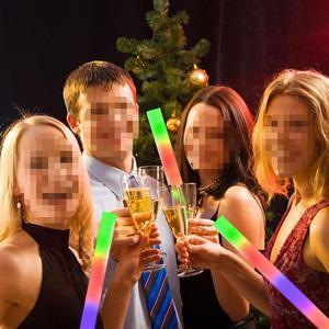 Image 5 - 30pcs led 빛나는 공예 콘서트 파티 웨딩 파티 클럽 바 a35에 대 한 여러 가지 빛깔의 led 거품 글로우 스틱 형광등 스틱