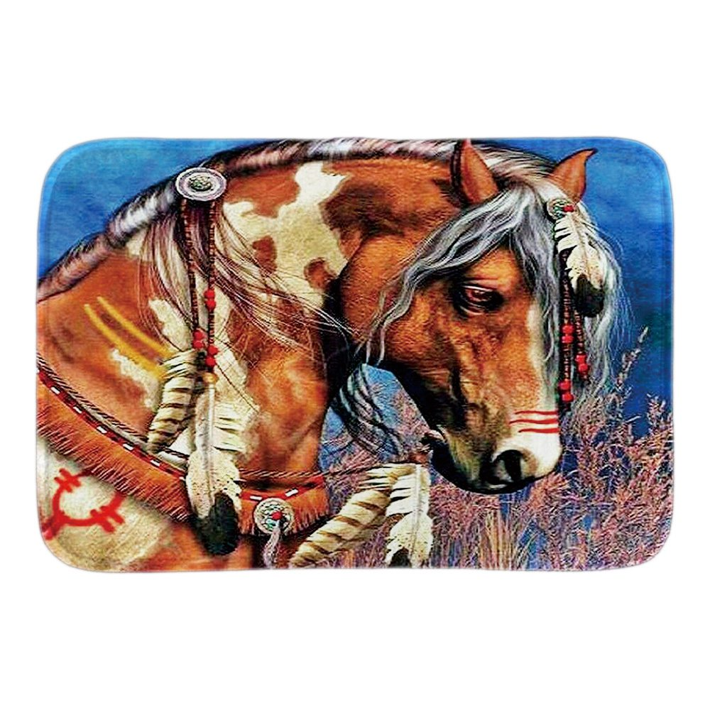 Doormat dekorative në shtëpi të shtypura me Montana West Horse - Tekstil për shtëpi