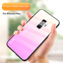 Shockproof Luxury Gradient 9H Tempered Glass Phone Case For Samsung Galaxy s8 s9 s10 Plus Note 8 9 Back Cover Coque