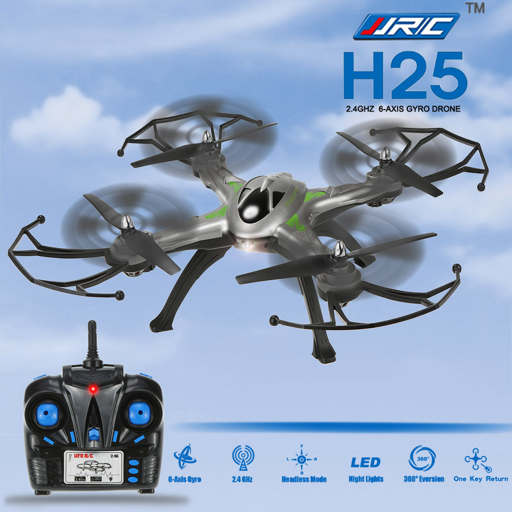 Professional Drone JJRC H25 2.4GHz 4CH 6-axis Gyro RC Quadcopter One Key Return CF Mode Drone with 360 Degree Eversion Function with more battery original jjrc h12c drone 6 axis 4ch headless mode one key return rc quadcopter with 5mp camera in stock