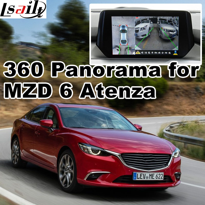 360 panorama & rear view interface for Mazda 2 3 6 CX-3 CX-4 CX-5 CX-9 MX-5 with MZD system LVDS RGB signal input cast screen