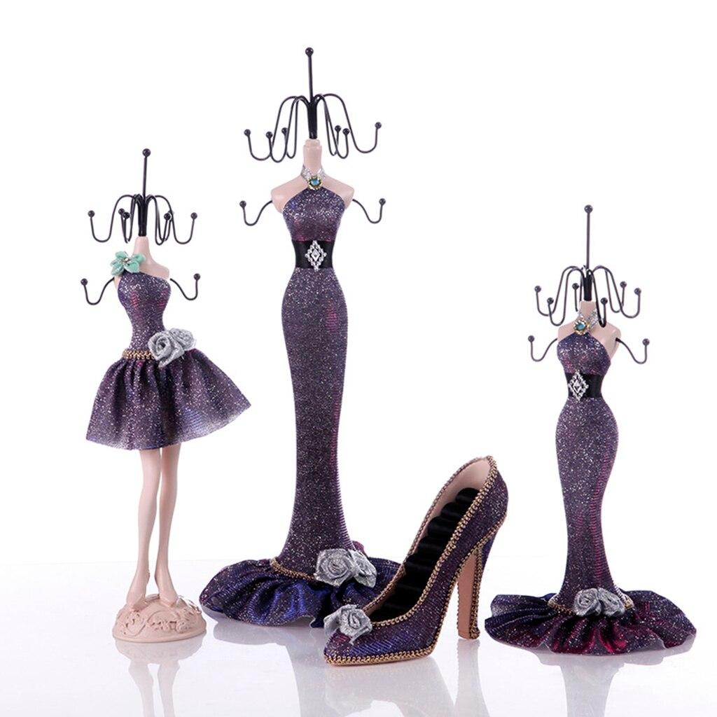 Charm Elegant High heel Dress Lady Mannequin Jewelry Organizer