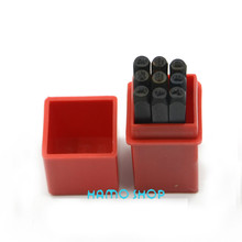 Free Shipping Number Die Letter Steel Stamp Punch 2.5mm ALPHABET Jewelers Set Choice 9pcs/lot