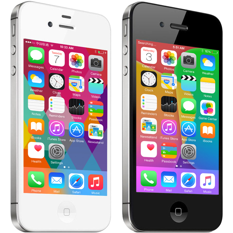 US $54 98 20% OFF|Unlocked Apple iPhone 4S phone 8GB/16GB /32GB/64GB ROM  White Black iOS GPS WiFi GPRS iphone4s mobile Used phone-in Mobile Phones