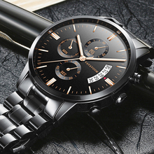 цена на Mens Watches Top Brand Luxury Business Waterproof Wristwatch Relojes 2019 Watch Men Fashion Sport Quartz Clock Relogio Masculino