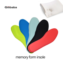 1 Pair lot Memory Foam Shock absorption Insole foot massage insole for man and women casual
