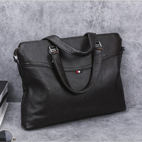 genuine leather briefcases men laptop briefcase for 14 inch handbag Fashion computer Messenger bags