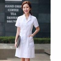 New style white coat doctor female male long short sleeve pharmacy beautician nurse clothing fashion elegant work uniform