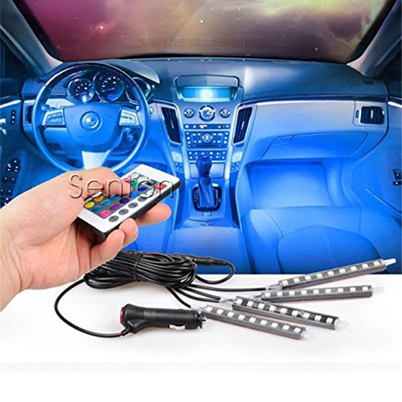 Car Atmosphere Light Wireless Remote For Hyundai Solaris Tucson 2016 I30 IX35 I20 Accent Santa Fe For Lada Granta Kalina Priora 4pcs set smoke sun rain visor vent window deflector shield guard shade for hyundai tucson 2016