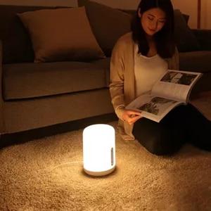 Image 3 - Прикроватная лампа Xiaomi Mijia, светодиодный умный светильник с двумя лампами, Wi Fi/Bluetooth, работает с приложением Apple HomeKit, 2018