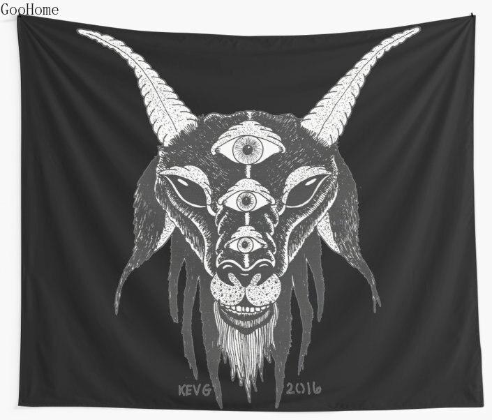 ①  5 Глаза Сатаны Стены Гобелен Покрытие Пляжное Полотенце Бросить Одеяло Пикник Йога Коврик Украшения  ①