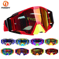 POSSBAY Motorcycle Glasses Nose Guard Motocross Goggles Glasses Helmet Dirt Bike Ski Racing Goggles Sport Gafas