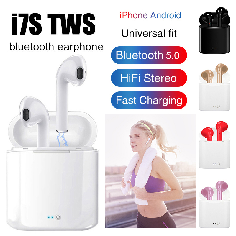 i7s TWS Wireless <font><b>Headphones</b></font> Bluetooth Earphone In-ear Stereo Earbud Headset With Charging Box For iPhone Xiaomi huaweiTSLM1