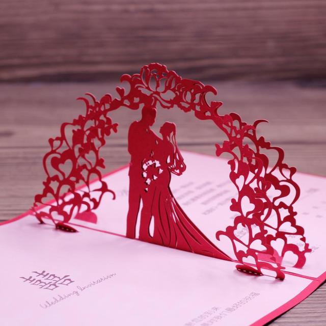 Wedding Anniversary Card Laser Cut Red Art Paper Invitation Design In 2017 50pcs