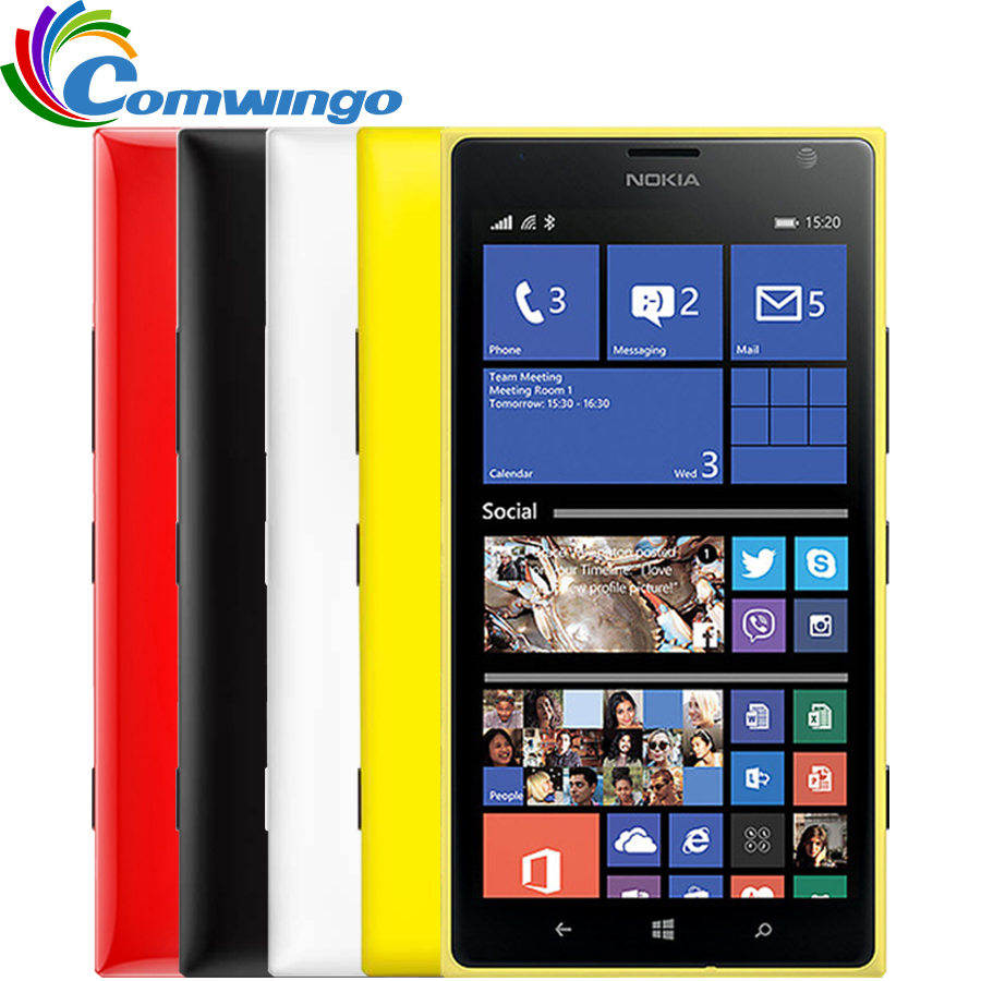 Цена за Nokia lumia 1520 windows phone мобильный телефон 32 ГБ quad core 2.2 ГГц 2 ГБ ram 20mp nfc gps wifi 3 г смартфон