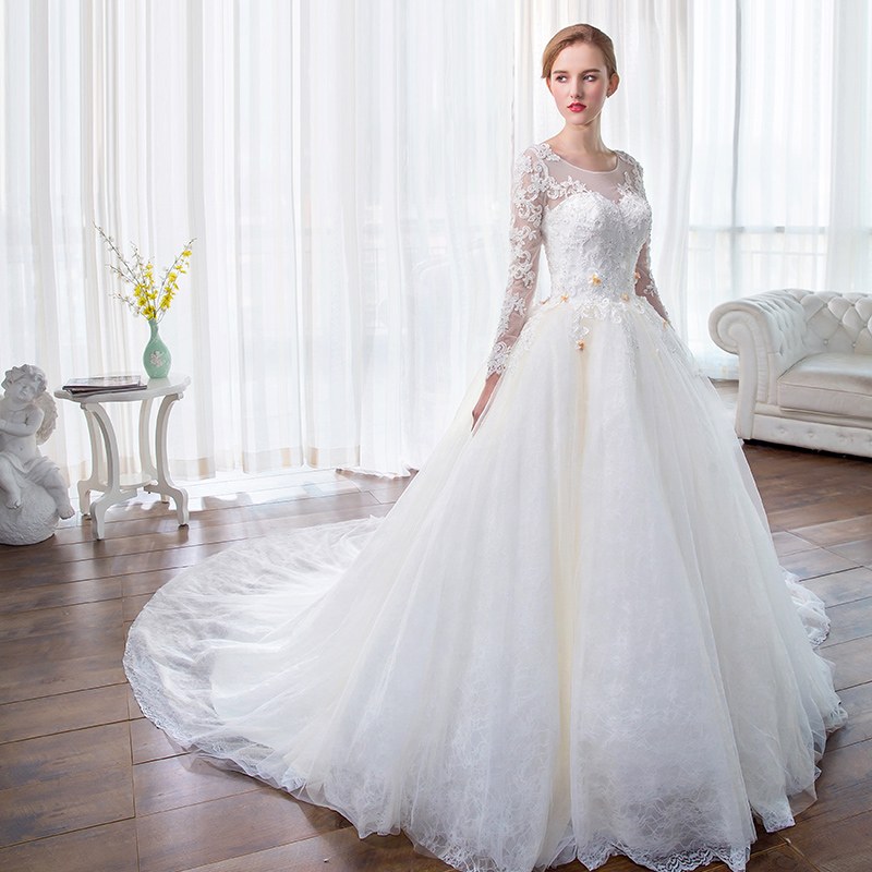 See Through Wedding Gown: Gorgeous Ball Gown Wedding Dress Luxury See Through Back