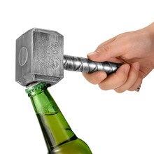 JINJIAN, серебряные открывалки для пивных бутылок, многофункциональный молоток в форме Тора, открывалка для пивных бутылок с длинной ручкой, открывалка для бутылок пива