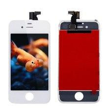 Nueva original no dead pixel ips pantalla lcd en blanco y negro lcd digitalizador para iphone 4g cdma envío gratis