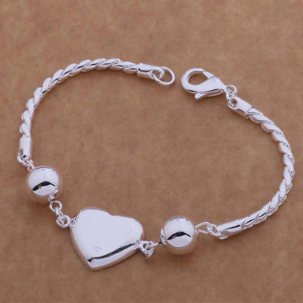 AH082 Hot 925 sterling silver bạc vòng đeo tay, 925 sterling silver bạc trang sức thời trang tươi sáng lớn heart/ajyajbfa ayaajpha