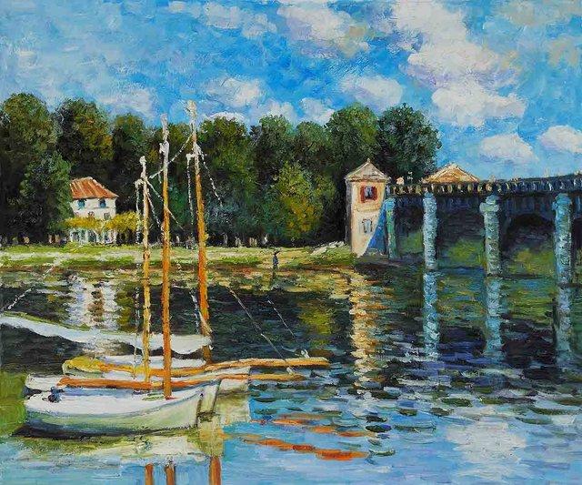 Famous Oil Painting Reproduction La Villa Di Statisti By Claude Monet Landscape Art High Quality
