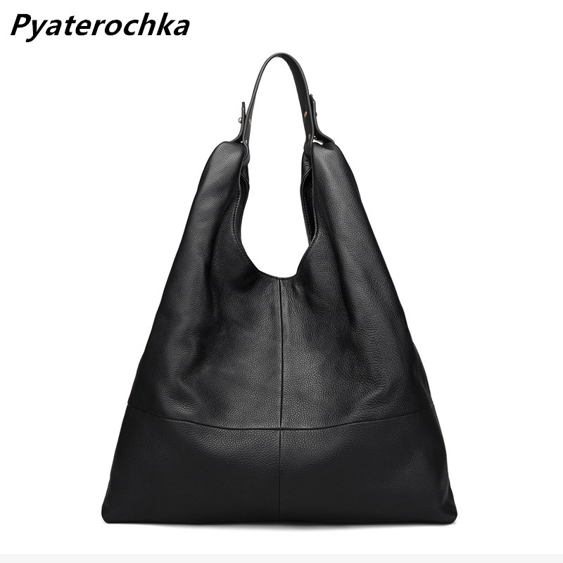 Luggage & Bags Conscientious Pyaterochka Women Genuine Leather Handbag Vintage Casual Tote Half Moon Shoulder Crossbody Bags High Quality Korean Style Totes