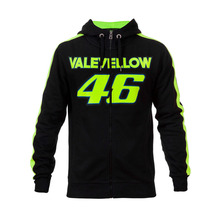 2017 Valentino Rossi VALEYELLOW VR46 Black MotoGP Hoodie Racing Mens Zip-up Sweater
