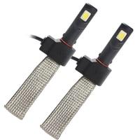 2pcs H7 Car LED Headlight Head Light Lamp 3200LM 6000K Aluminum Alloy Belt Heat Dissipation Car