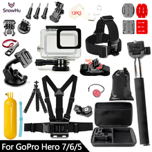 SnowHu for Gopro 7 6 5 Accessories Set Waterproof Housing Protection case Tripod Monopod for Gopro hero 7 6 5 Sport Camera GS73 snowhu for gopro 7 6 5 accessories set for gopro hero 7 6 5 protective case chest monopod for gopro hero 7 6 5 tripod s49