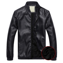 MRMT 2018 Brand Winter Men's Plus Thick Jackets Collar PU Leather Overcoat for Male Leather Jacket Outer Wear Clothing Garment(China)