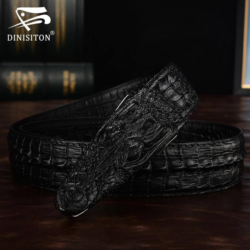 DINISITON 3D krokodila slavenais zīmols Ādas josta Designer - Apģērba piederumi