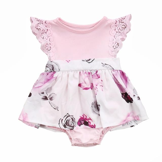 Floral Baby Passende Schwester mädchen Familie Kleidung lace Floral 0OnwPk
