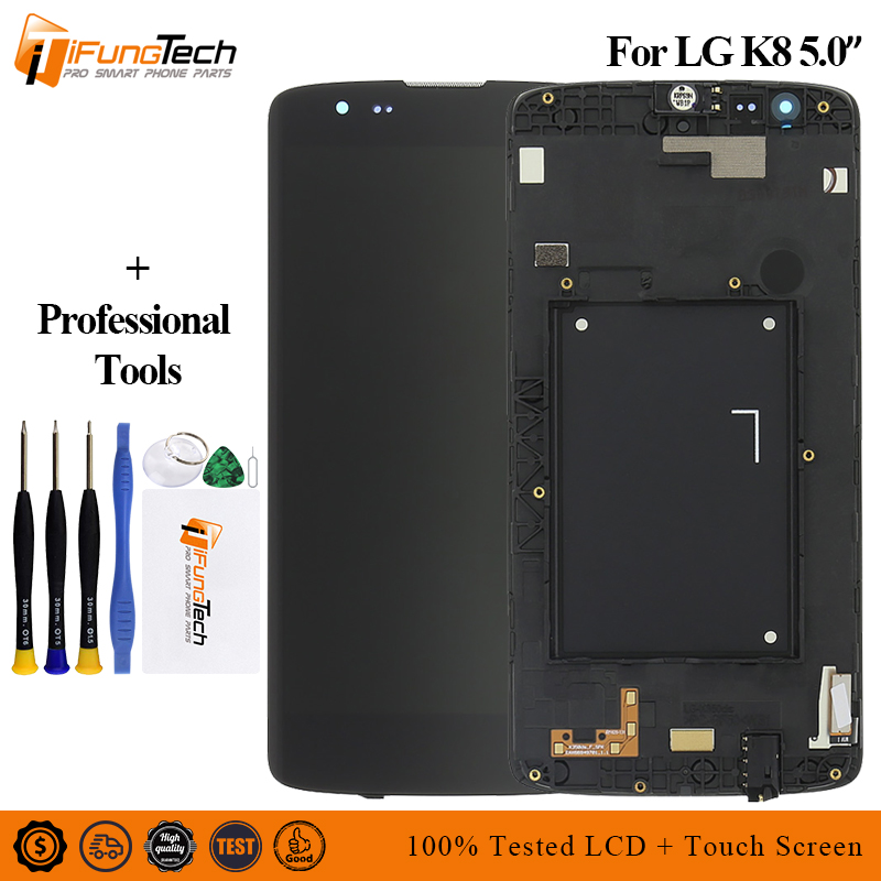 For LG K8 LTE K350 K350N K350E K350DS LCD Display with Touch Screen Digitizer Assembly With frame free shippingFor LG K8 LTE K350 K350N K350E K350DS LCD Display with Touch Screen Digitizer Assembly With frame free shipping