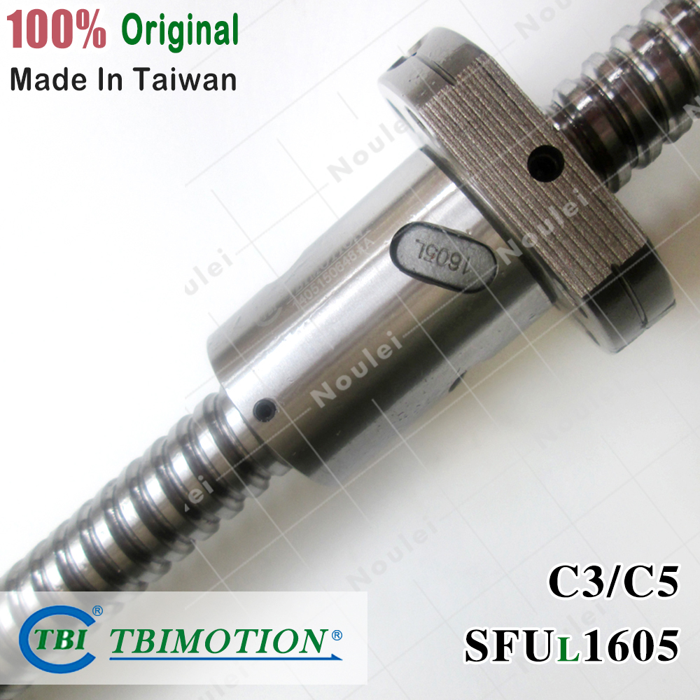TBI 1605 vis à billes C3 C5 Rotation de l'hélice gauche 300mm 350mm SFU avec écrou SFU1605 Anti-jeu SFUL1605 pour pièces de CNC