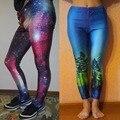 16 ЦВЕТА XXL XXXL XXXXL 2XL 3XL 4XL, Galaxy 3D Печатные Узкие Брюки Женщины Мода Лето Harajuku Хип-Хоп Брюки Бинты брюки