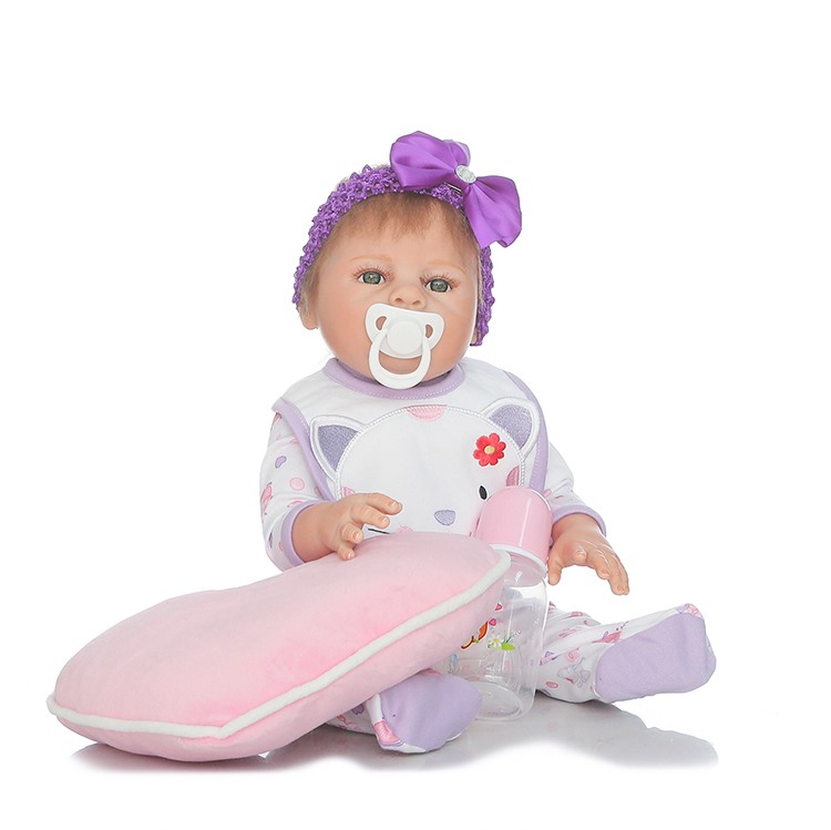 20inch reborn babies for sale full silicone body reborn girl dolls  with soft pillow children lover gift bonecas rebor20inch reborn babies for sale full silicone body reborn girl dolls  with soft pillow children lover gift bonecas rebor