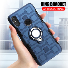 Cover For Motorola Moto P30 Note Silicone Shockproof Phone Case For Motorola Moto One Power Luxury Armor Cover Ring Stand Case sfor phone case motorola one case luxury rubber phone case for motorola p30 play cover for moto one motorola one xt1941 fundas