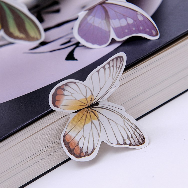 10 Pcs Books Marks Flower Print Bookmark Stationery Mini Paper 3D Stereo Butterfly Bookmarks For Girls Women Gifts