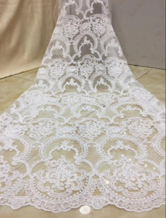 luxury flower french net lace fabric with sequins JIANXI C 102410 french embroidered lace with super