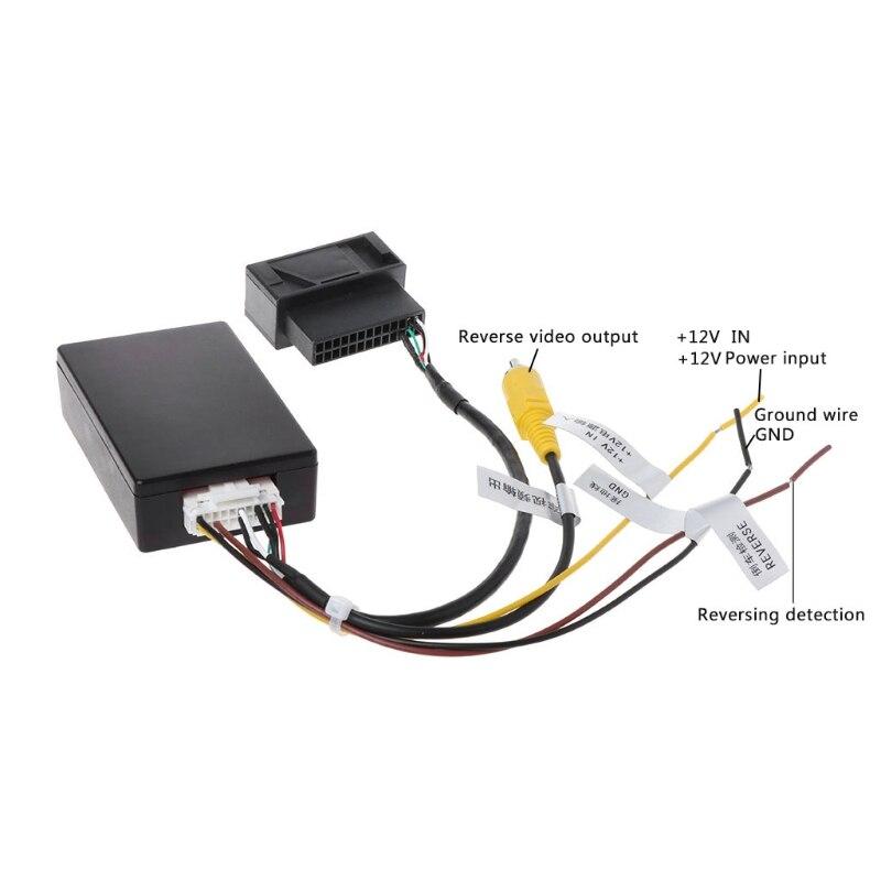 RGB Para Conversor AV Caixa Adaptador De Backup Câmera Retrovisor do carro Para VW Volkswagen