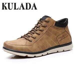 KULADA 2019 Men's Shoes Leathe
