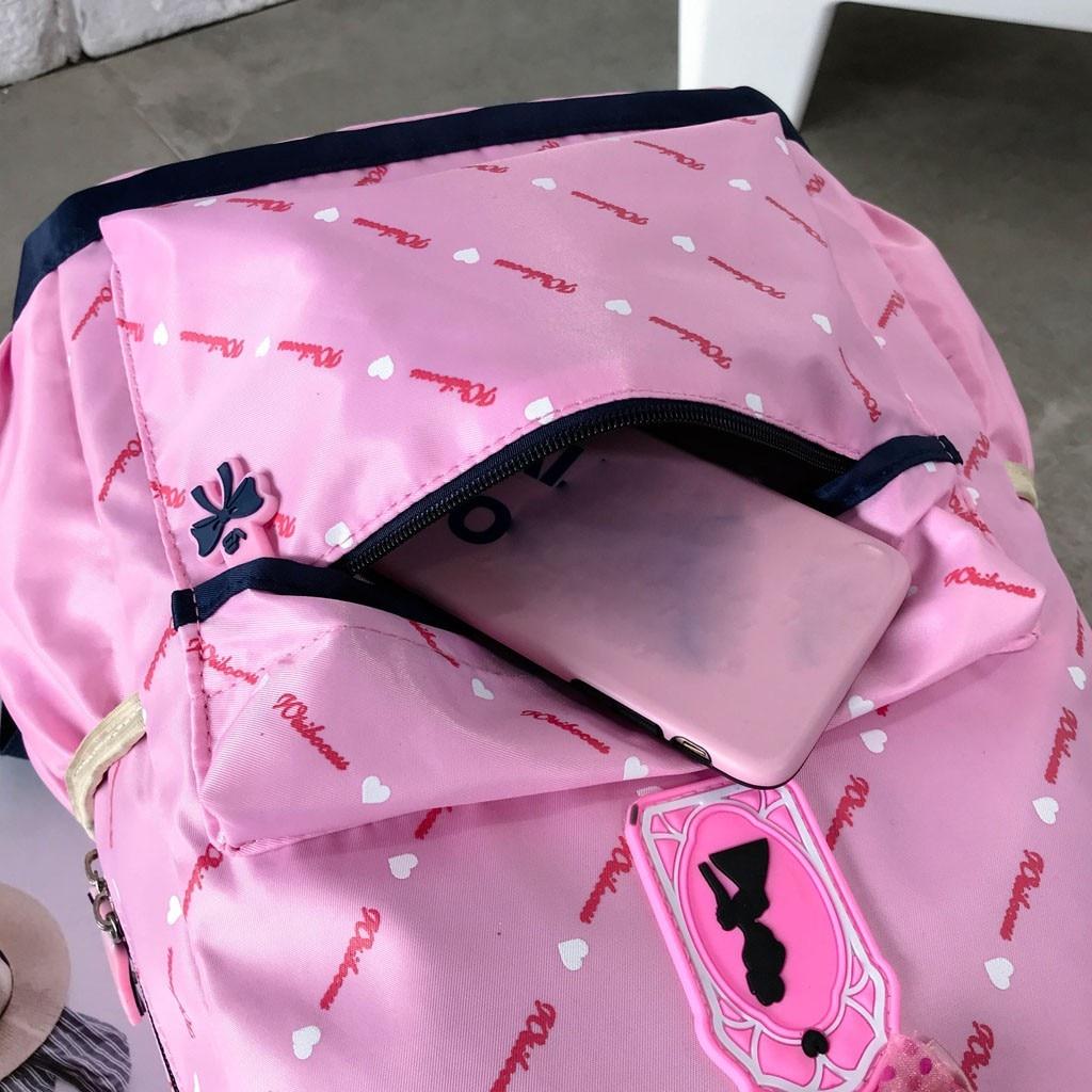 Women Bow Canvas Three-piece School Bag 33